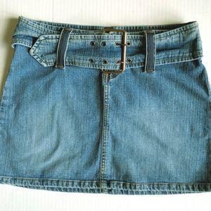 L.E.I. Juniors Denim Belted Jean Skirt